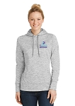 Women's Silver Electric Heather Fleece Hooded Pullover