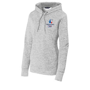 Ladies Electric Heather Fleece Hoodie